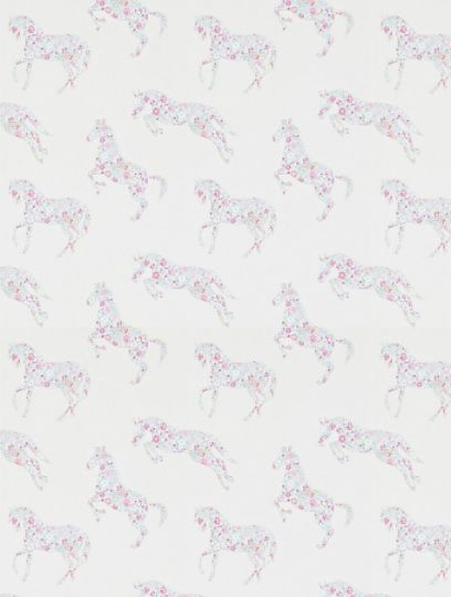 Pretty+Ponies+Pink/Sky,+a+feature+wallpaper+from+Sanderson,+featured+in+the+Abracazoo+collection.