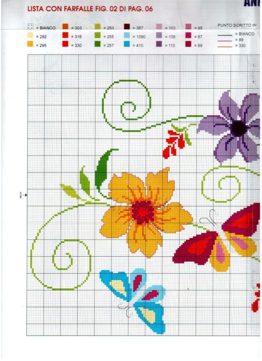 flower and butterfly runner 1/5