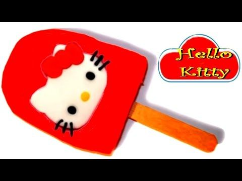 Play Doh How to Make a Giant Hello Kitty Ice Cream Popsicle for Kids with Funny Toyo Surprise - YouTube