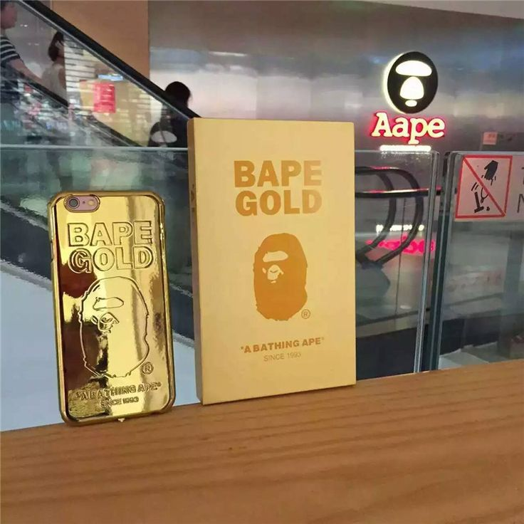 Cheap phone cases, Buy Quality case universal directly from China case brand Suppliers: Flash Sale High Street Brand Bape Bathing Ape Golden Phone Cases Universal For iPhone 6 s Plus For iPhone 7 Plus silicone