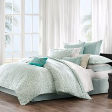 Guest room? Echo Bedding Mykonos Comforter Set, 100% Cotton - Bed Bath & Beyond