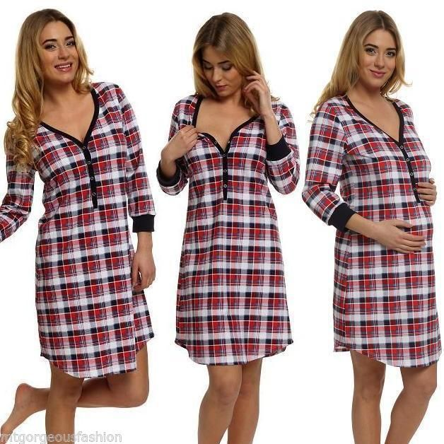 #Maternity #pregnancy #breastfeeding nursing nightdress uk size 8 10 12 14 16,  View more on the LINK: 	http://www.zeppy.io/product/gb/2/141607692113/