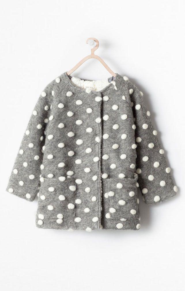 Pom pom coat