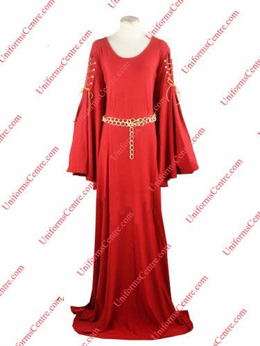Custom Game of Thrones Melisandre Cosplay Costume Red Dress For Sale - Uniformscentre.com