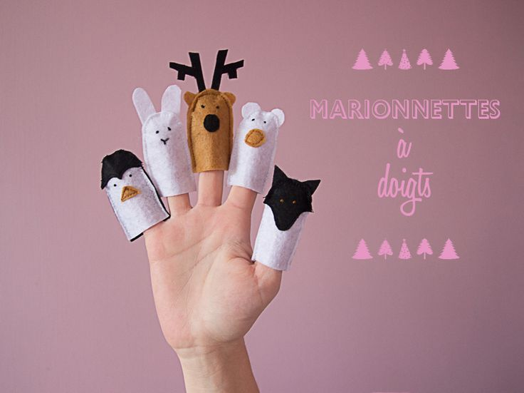 mademoiselle M » On prépare Noël #Les marionnettes à doigts