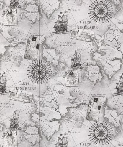 Arthouse-VIP-Navigator-Carta-da-parati-622004-Carta-Nautica-Bussola-VELA-GRIGIA