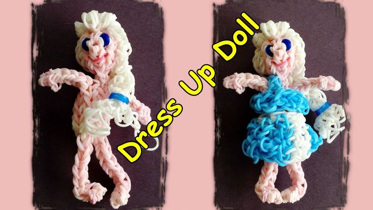 Rainbow Loom Dress Up Doll with Loom Bands - Make Elsa or Customize your own boy or girl doll tutorial by DIY Mommy.
