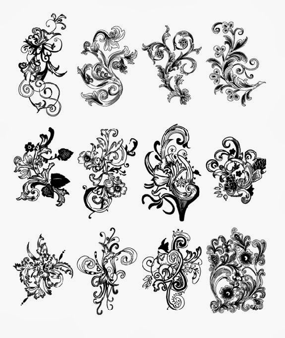 17 best images about vintage ornament vectors on pinterest