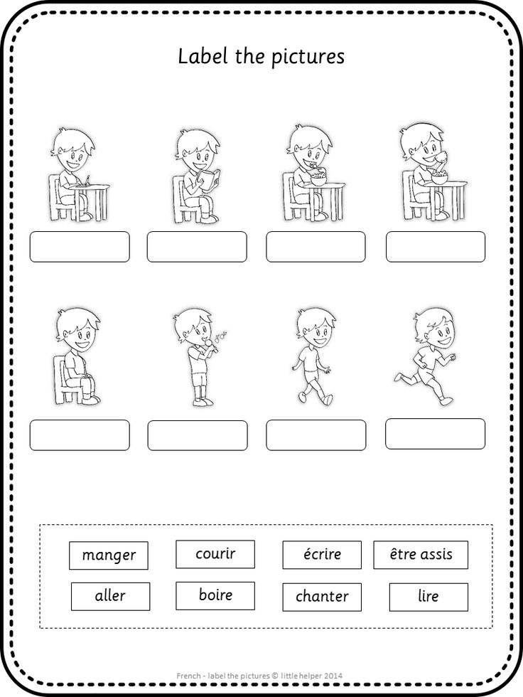 Label the picture worksheets. Great vocabulary practice for your French lessons. This set covers all major topics in French from adjectives to weather.