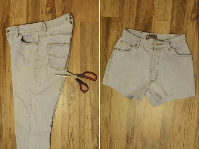 Как можно обрезать джинсы в шорты для мальчиков