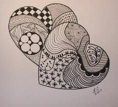369 best images about Zentangle heart on Pinterest | Drawings ...