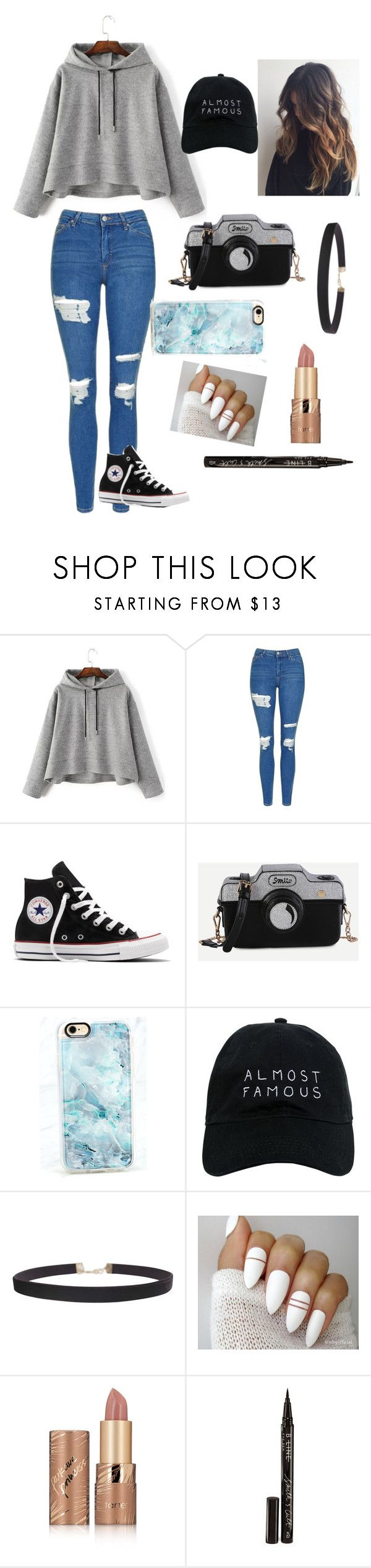 """""""Untitled #28"""" by katiebell5221 on Polyvore featuring Topshop, Converse, Casetify, Nasaseasons, Humble Chic, tarte and Smith & Cult"""