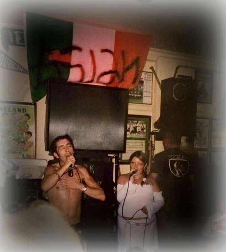 Christy Dignam lead singer in Aslan live in Lanzarote.