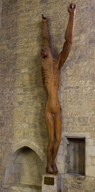 Christ (1954), Ossip Zadkine (1890-1967), Caylus (Tarn-et-Garonne, France)