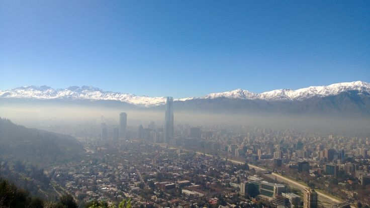 Vista aérea de Santiago de Chile