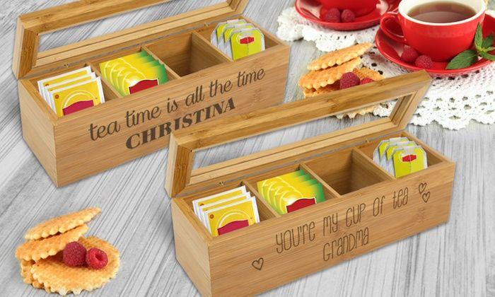 Monogram Online: Custom Wooden Tea Box (Up to 54% Off)