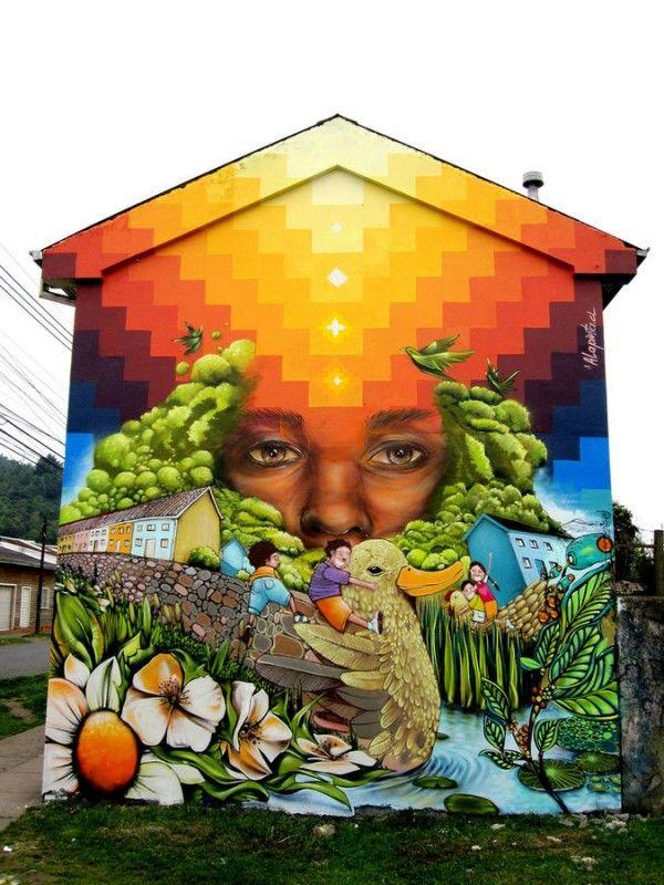 Best Art Mural Images On Pinterest Murals Street Art And Art - Artist paints incredible seaside murals balanced on surfboard