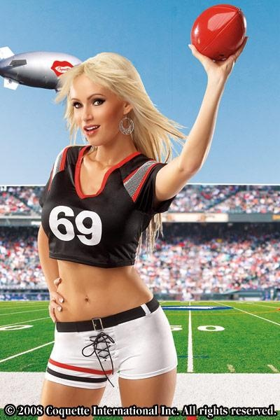 WD Lingerie - FANCY DRESS FEMALE FOOTBALL PLAYER COSTUME / AMERICAN FOOTBALL OUTFIT / SOCCER UNIFORM - SEXY LADIES FOOTIE PLAYERS COSTUMES , SPORT / SPORTS OUTFITS & UNIFORMS[CQM424]