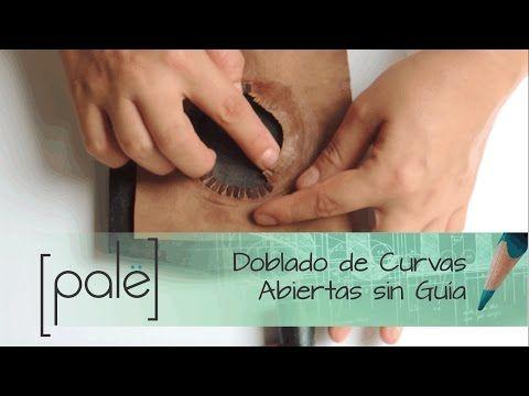 Doblado curvas abiertas sin guia en cuero - YouTube