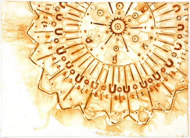 Cosmic Explosion II by moo2me, via Flickr Rust monoprint on Fabriano Artistico paper