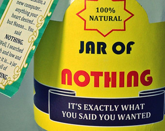 """Printable Labels for DIY """"Jar of Nothing"""" - DIY Gag Gift for Boyfriend, Girlfriend, Gifts for Men, Friends - Birthday Gift, Christmas Gift"""