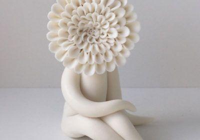 Dahlia Flower Sculptures