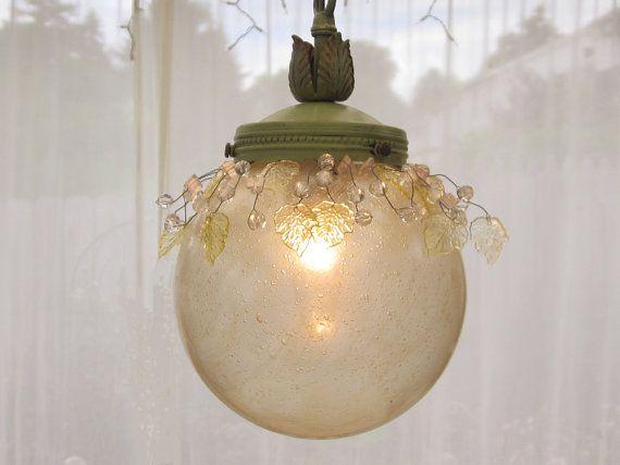 Nice lite ...: Bubbles Glasses, Gold Bubbles, Etsy Fave, Vintage Etsy, Ball Pendants, Pendants Lights, Vintage Ball, Glasses Globes, Lights Fixture