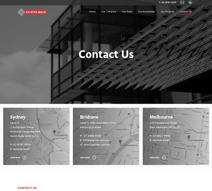 Paynter Dixon – 2016 Website Design + Build