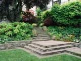 Big Backyards, Formal Step, Sloped Backyards, Traditional Landscapes, Residential Landscapes, Rocks Step, Design Buildings Maintain, Backyards Ideas, Botanica Atlanta