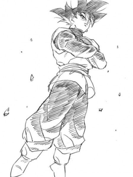 Dragon Ball Z Para Colorear Goku Fase Dios Vs Bills Dibujo De
