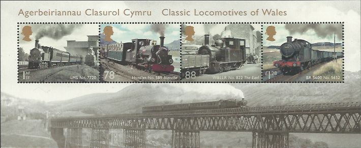 Classic Locomotives of Wales from the 2014 Miniature sheet
