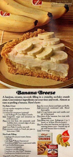 banana breeze pie recipe 1974