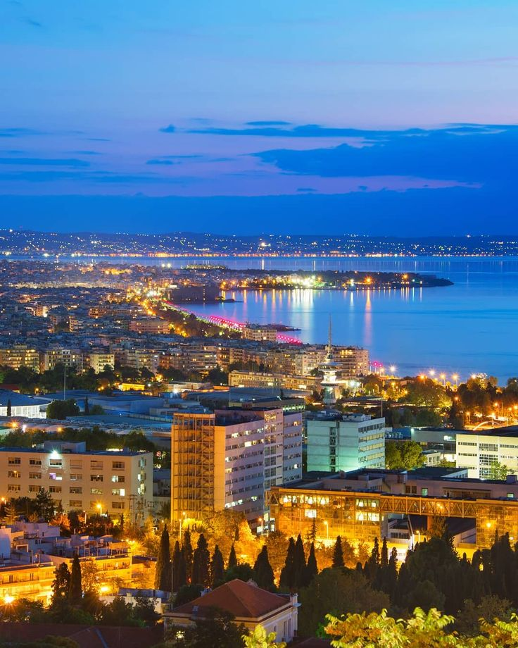 Visit Greece | Are you ready for a night walk in Thessaloniki! #VisitGreece #Greece #Thessaloniki