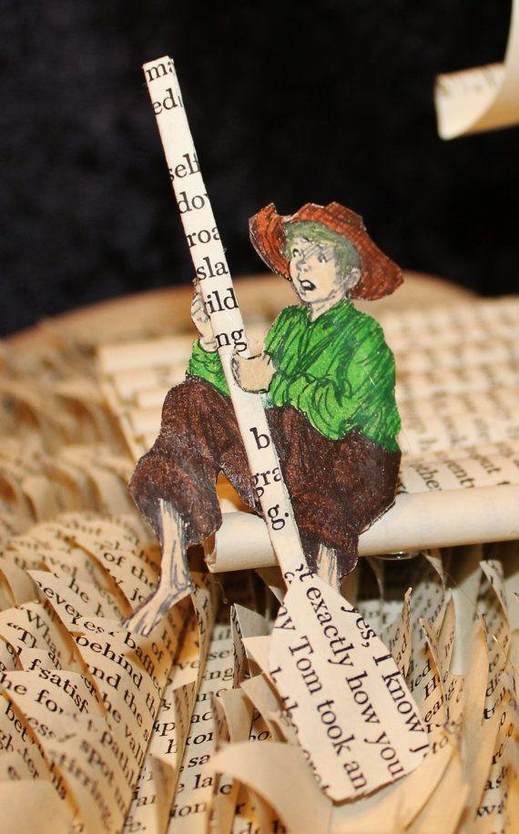 Tom Sawyer Book Sculpture by WetCanvasArt on Etsy