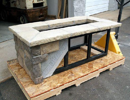 Custom Rectangle Fire Pit Kit