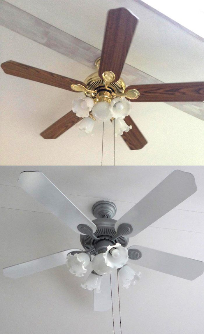 how to diy upgrade your ceiling fan its an inexpensive way to refresh your decor - Kitchen Ceiling Fan Ideas