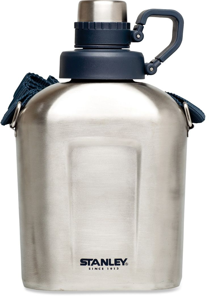 Stanley Stainless Steel Canteen - 1L , fully removable top.