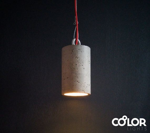 Industrial concrete pendant light on etsy.  #pendantlight #concrete_light #concrete #industrial #lamp