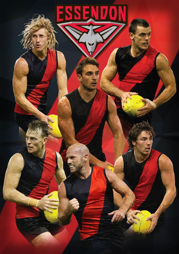 Essendon Football Club AFL By Ross McRae Design