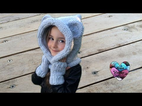 Bonnet capuche crochet toutes tailles / Bear hooded beanie crochet all sizes (english subtitles) - YouTube