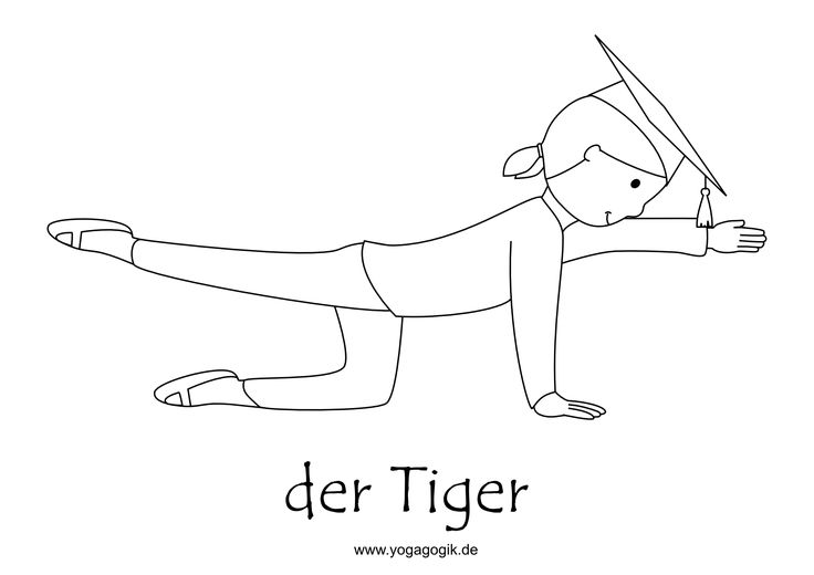 Kinderyoga Ausmalbild Tiger Yolanda