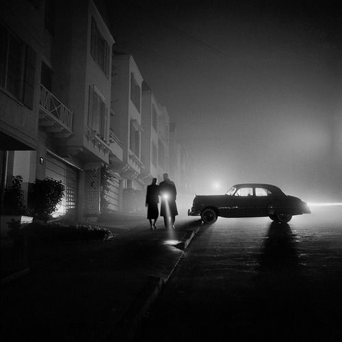Fred Lyon - Foggy Night at Land's End, 1953