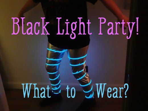 What to Wear to a Black Light Party: Clothes and Accessories #coolglow #blacklight