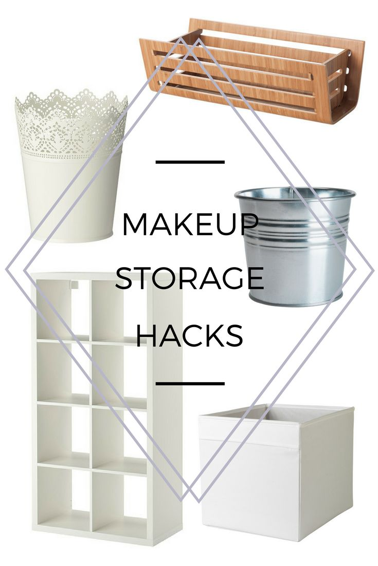 Simple, efficient & cost effective makeup storage hacks that fit perfectly into the design of your home. Reduce the cost and improve your space