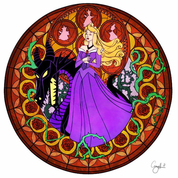 *MALEFICENT  AURORA ~ Sleeping Beauty, 1959....Station of Awakening Aurora Color by ~AHussein on deviantART
