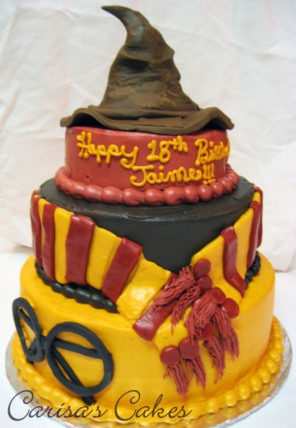 3 Tiered Harry Potter Birthday Cake