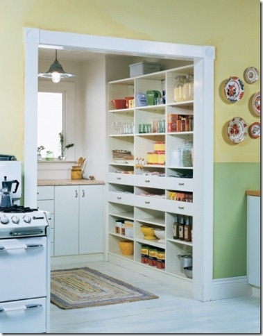 Interesting jog off the kitchen - perhaps also there is an exterior door to garage, yard or mudroom/laundry? This could be a simple add on, if space is tight.