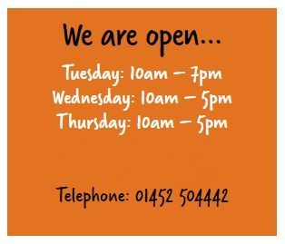 Our opening hours.                            Gloucestershire Resource Centre http://www.grcltd.org/scrapstore/