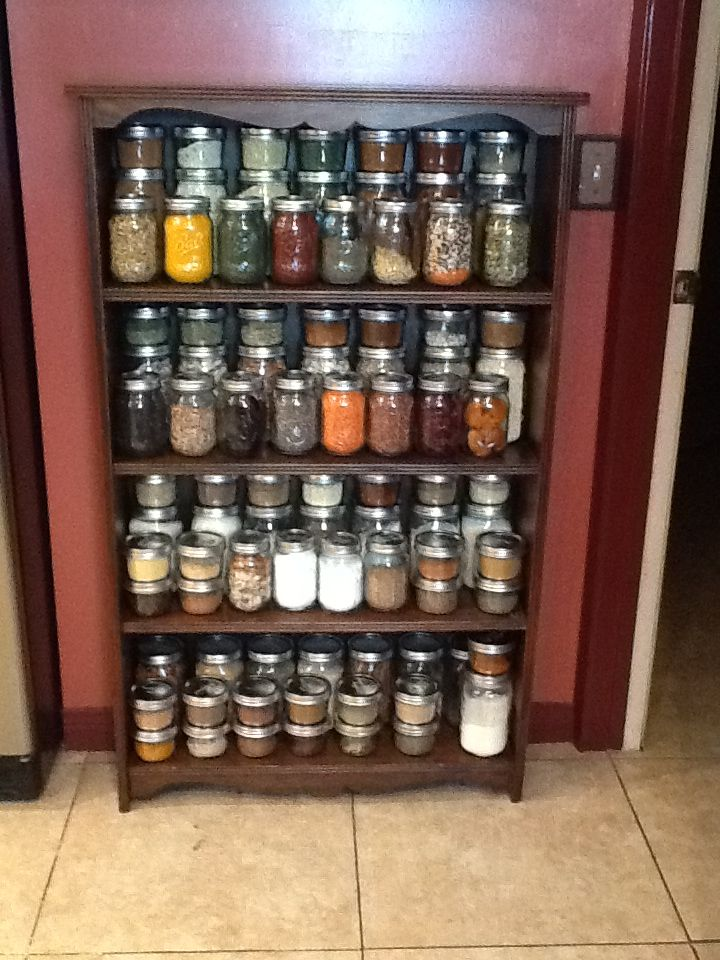 Mason Jar More Than A Spice Rack I Re Purposed A Shallow