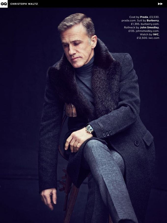 GQ UK May 2015 -- Christoph Waltz